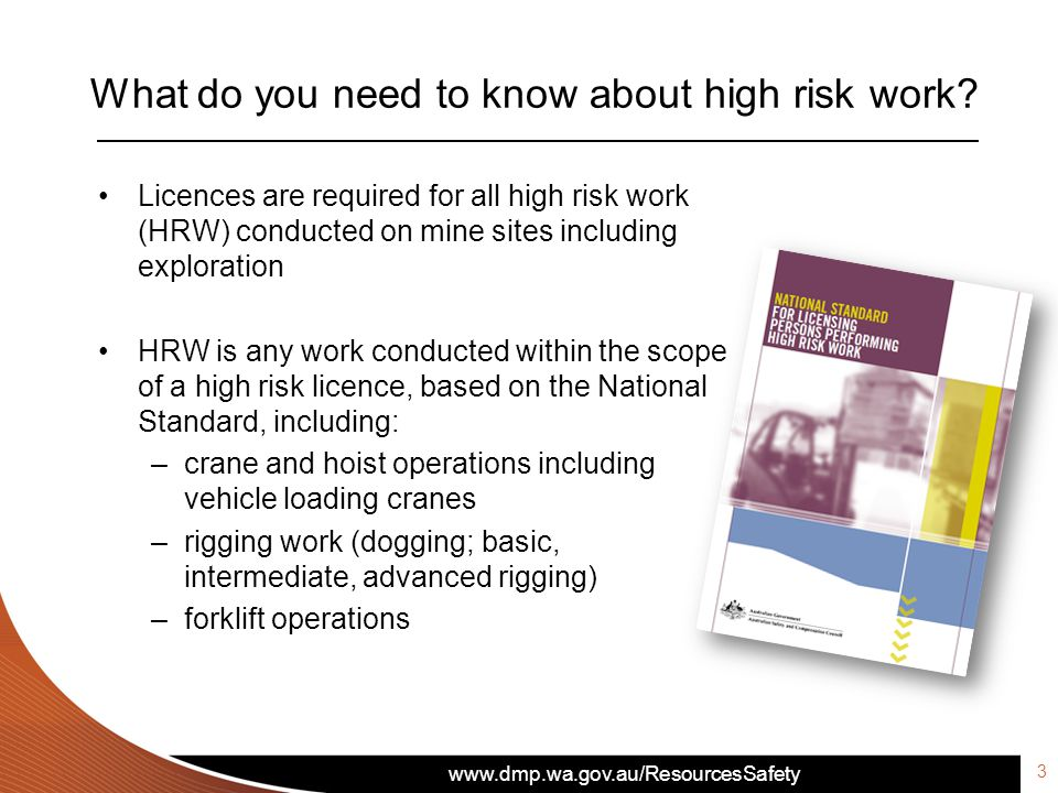 What do you need to know about high risk work