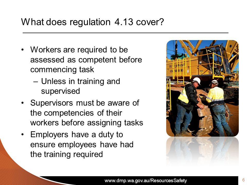 What does regulation 4.13 cover