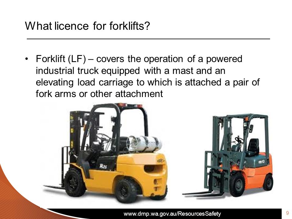 What licence for forklifts