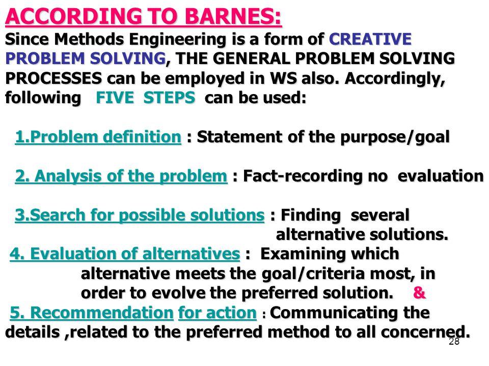 ACCORDING TO BARNES: