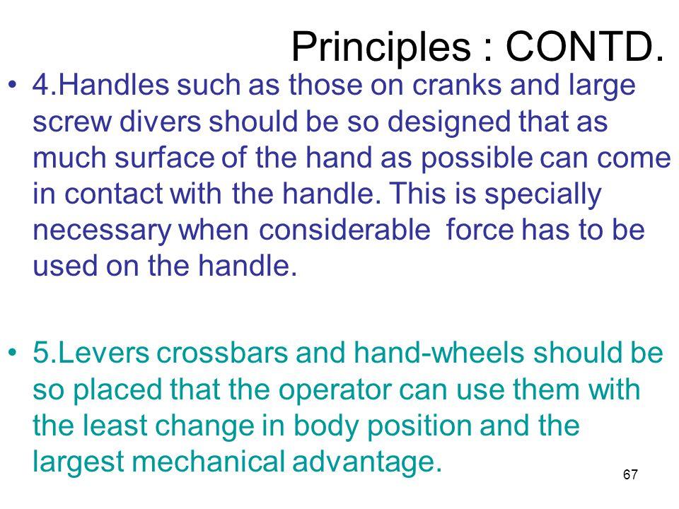 Principles : CONTD.