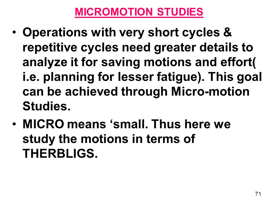 micro motion study English[edit] etymology[edit] micro- + motion noun[edit] micromotion (plural micromotions) a very small, or microscopic, motion derived terms[edit] micromotion film micromotion study retrieved from  indexphptitle=micromotion&oldid=46419675 categories: english words prefixed with.