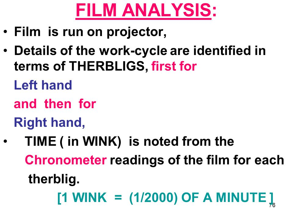 FILM ANALYSIS: Film is run on projector,