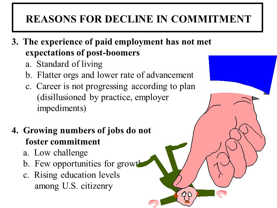 REASONS FOR DECLINE IN COMMITMENT