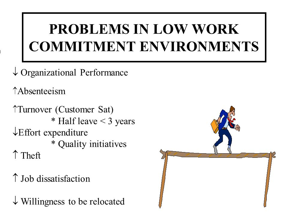 PROBLEMS IN LOW WORK COMMITMENT ENVIRONMENTS