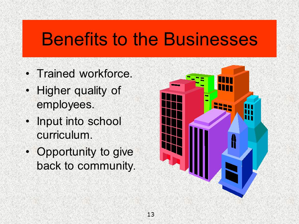 Benefits to the Businesses