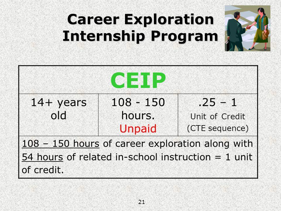 Career Exploration Internship Program