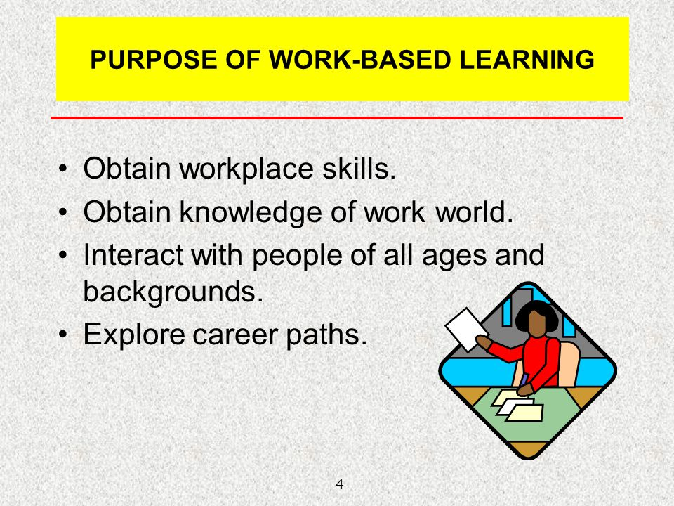 PURPOSE OF WORK-BASED LEARNING