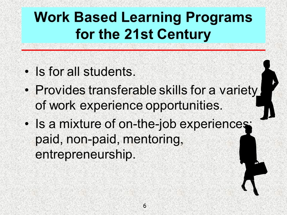 Work Based Learning Programs for the 21st Century