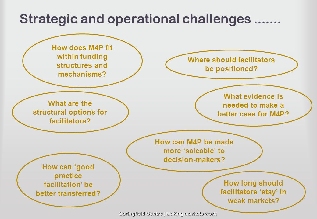 Strategic and operational challenges .......