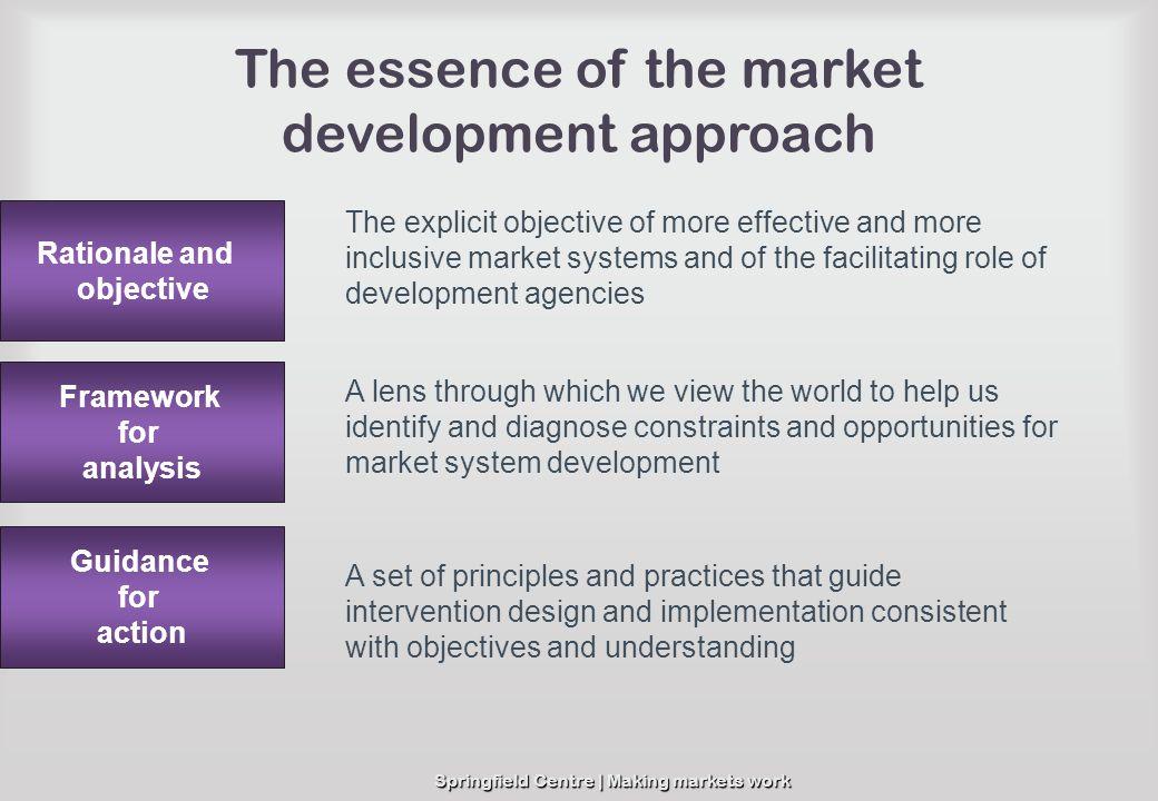 The essence of the market development approach