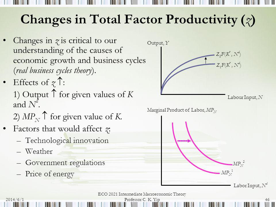Changes in Total Factor Productivity (z)