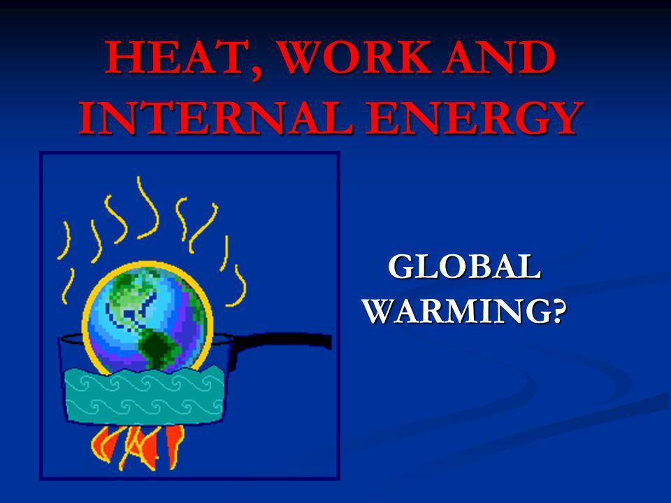 HEAT, WORK AND INTERNAL ENERGY