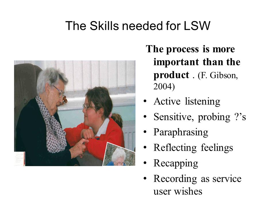 The Skills needed for LSW