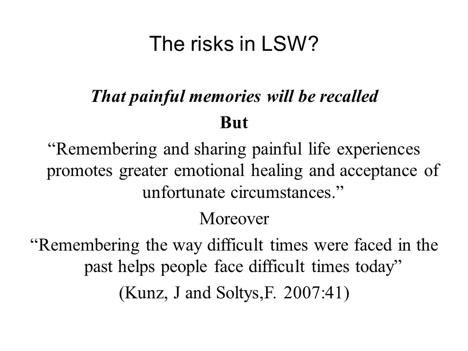 The risks in LSW