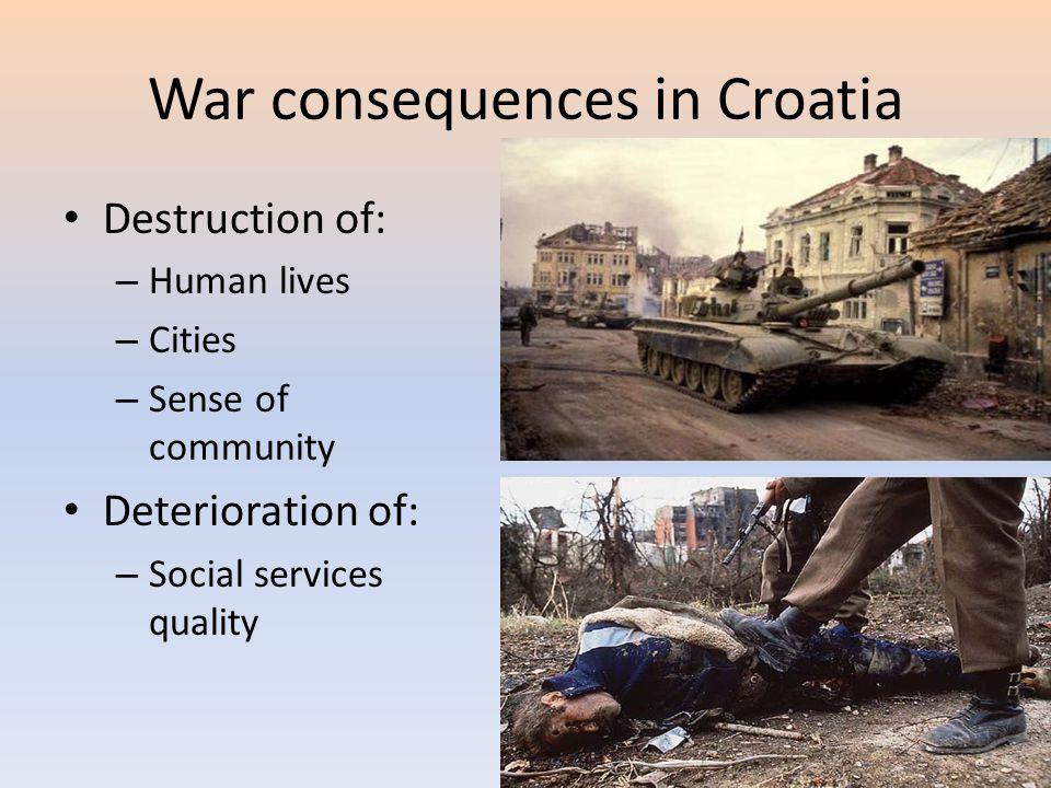 War consequences in Croatia