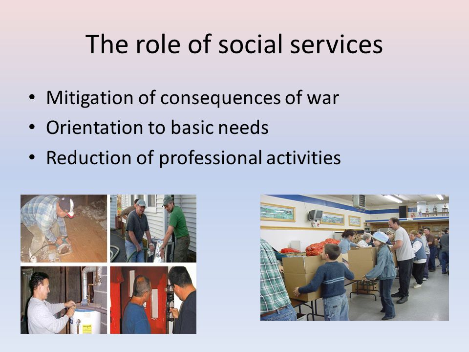 The role of social services