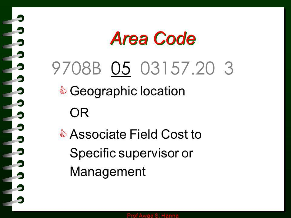 Area Code 9708B 05 03157.20 3 Geographic location OR
