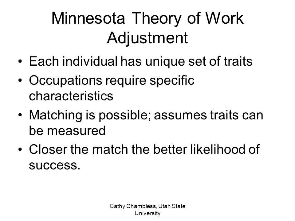 Minnesota Theory of Work Adjustment