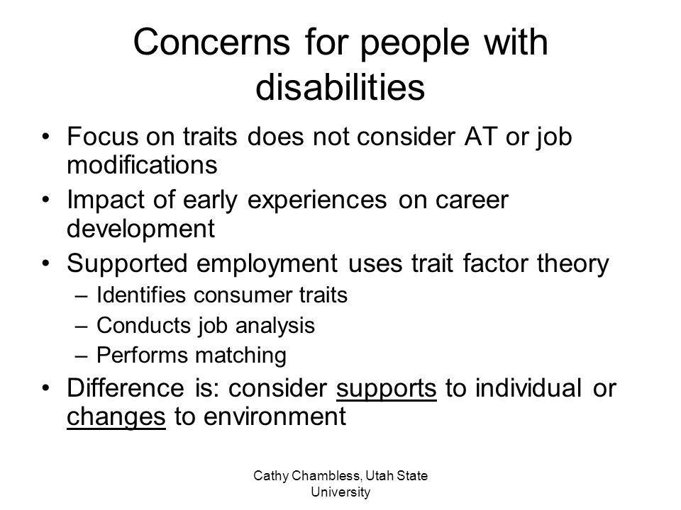 Concerns for people with disabilities