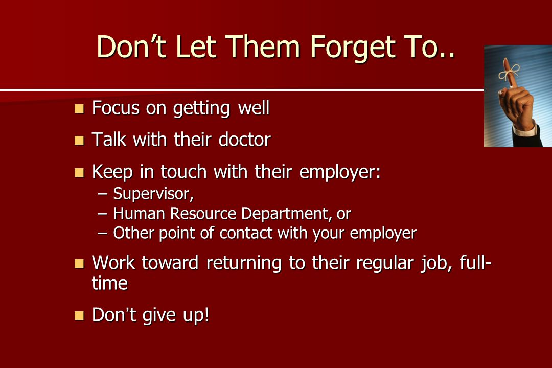Don't Let Them Forget To..