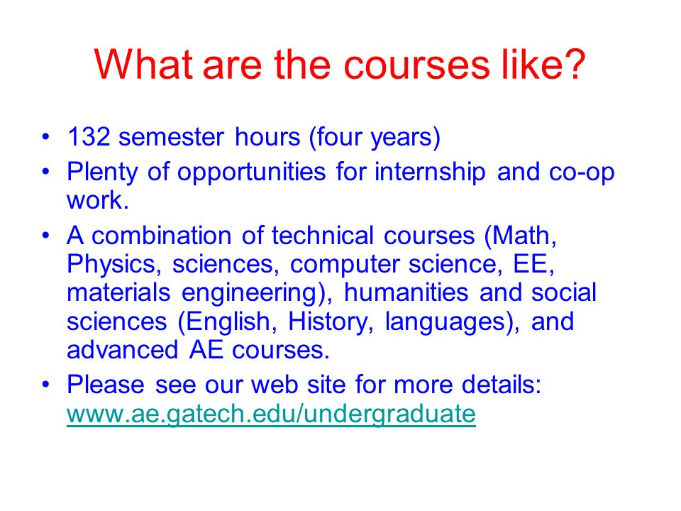 What are the courses like
