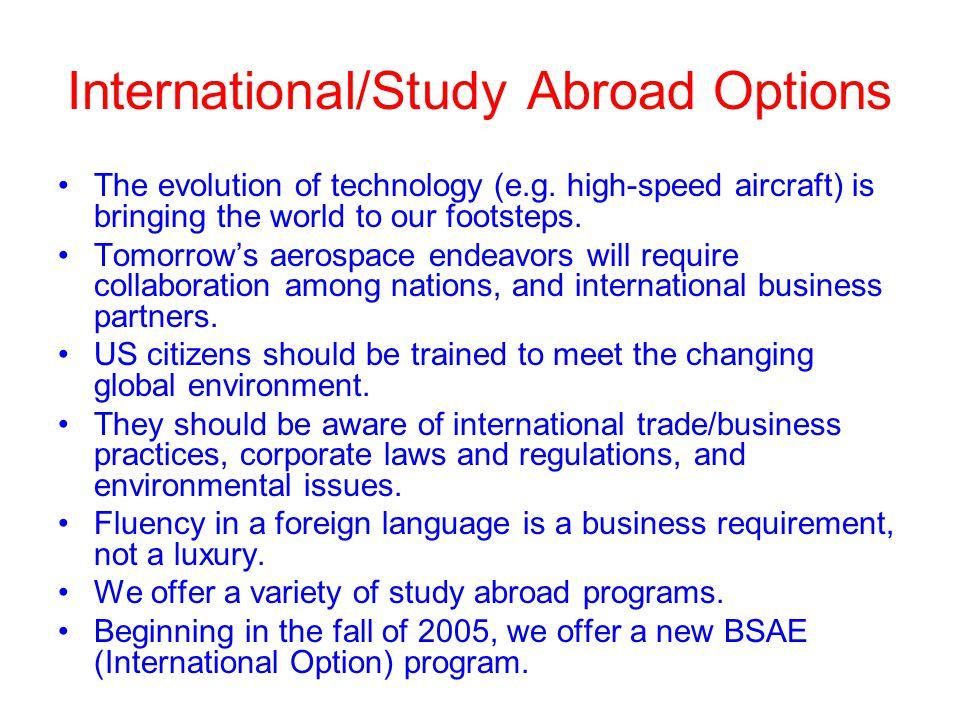 International/Study Abroad Options