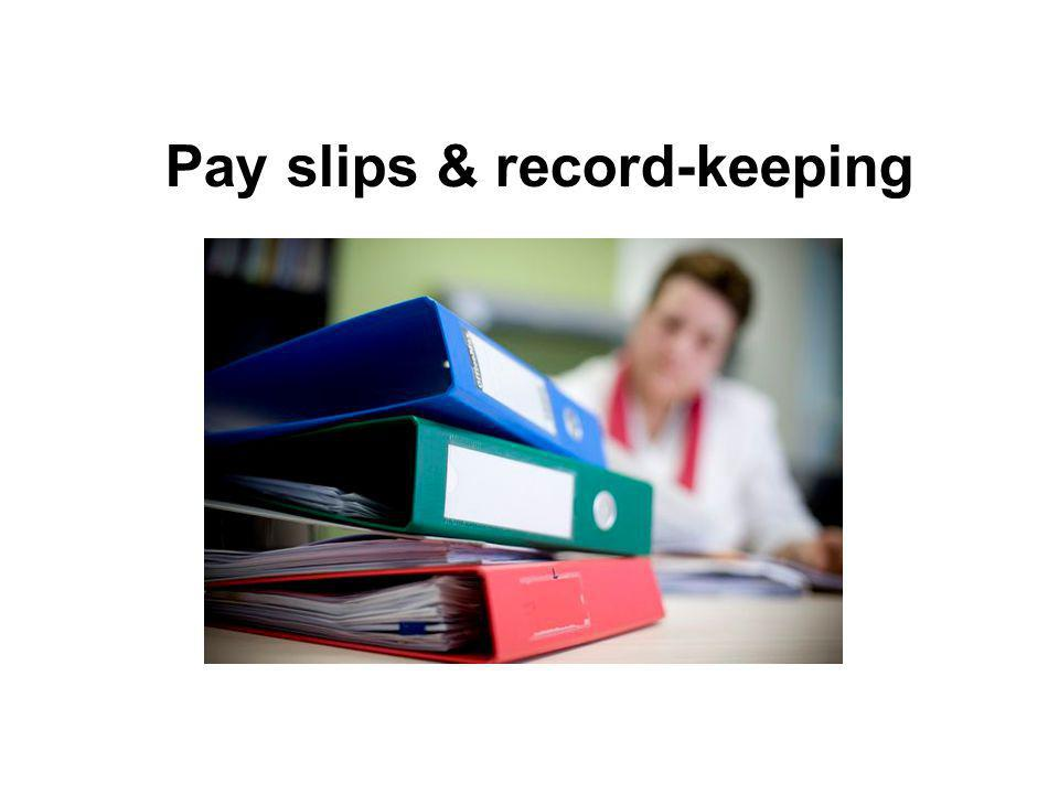 Pay slips & record-keeping