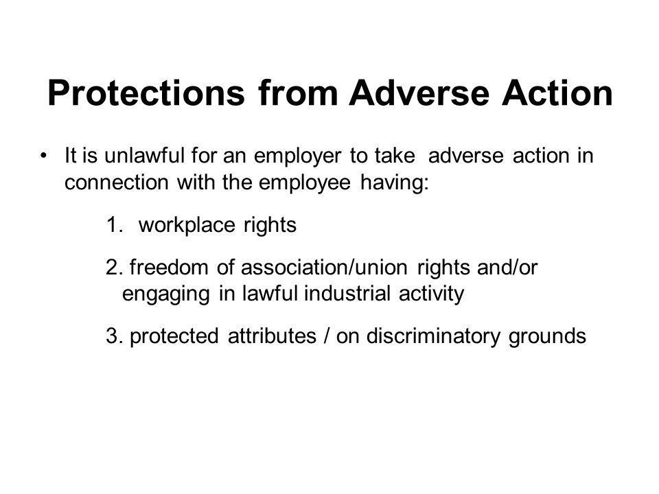 Protections from Adverse Action
