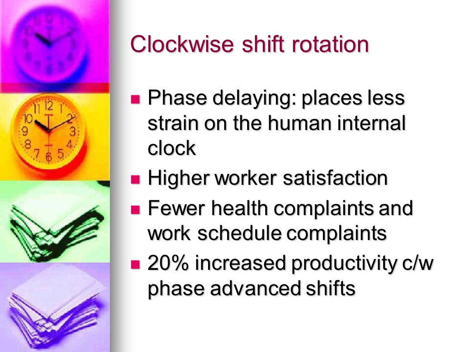 Clockwise shift rotation