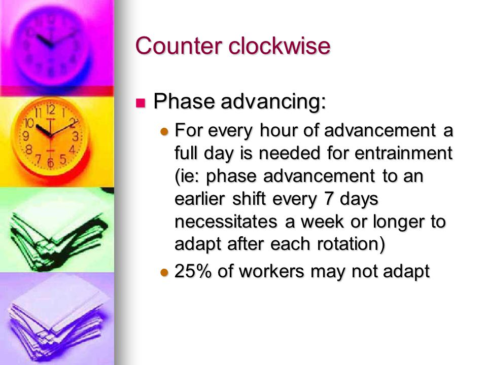 Counter clockwise Phase advancing: