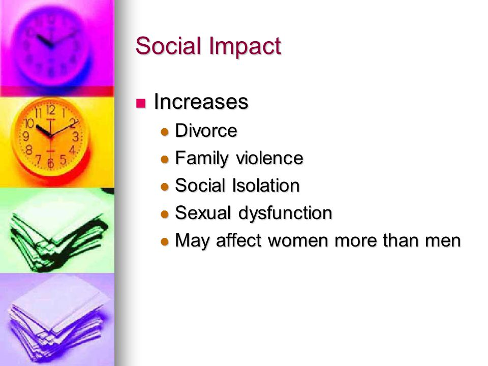 Social Impact Increases Divorce Family violence Social Isolation