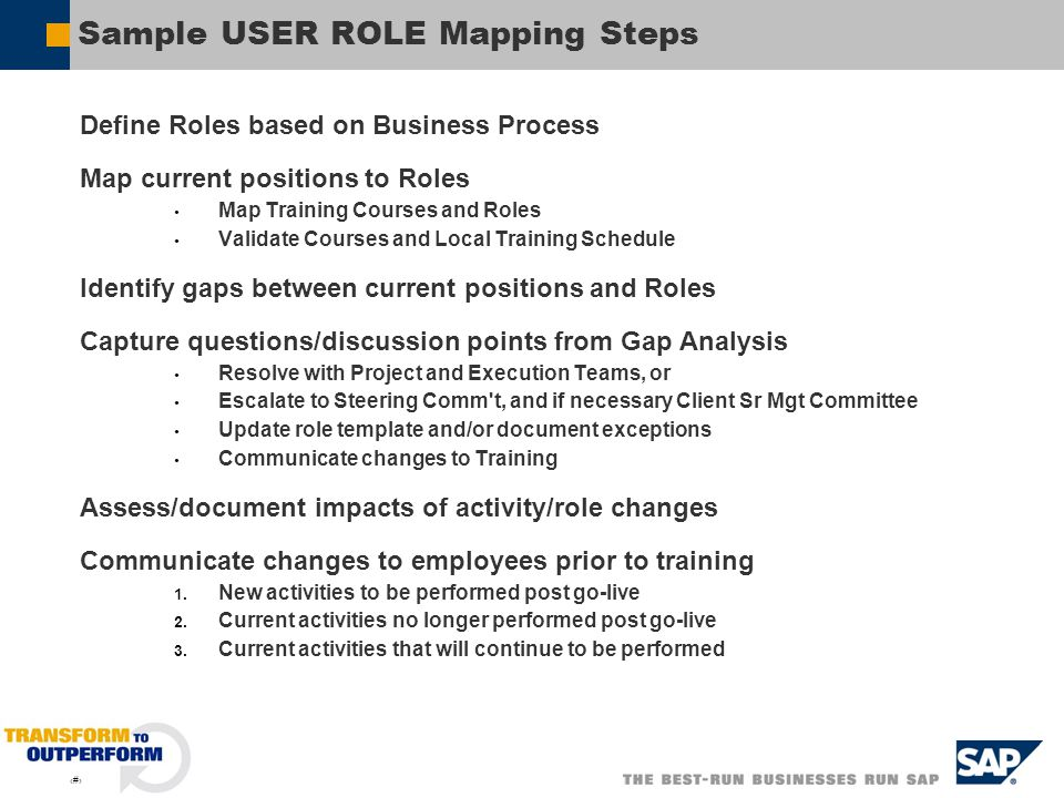 Sample USER ROLE Mapping Steps