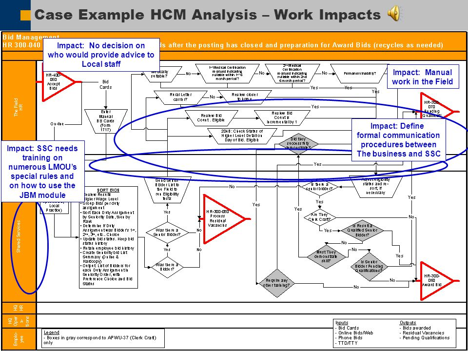 Case Example HCM Analysis – Work Impacts