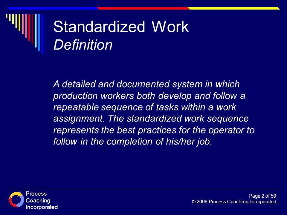 Standardized Work Definition