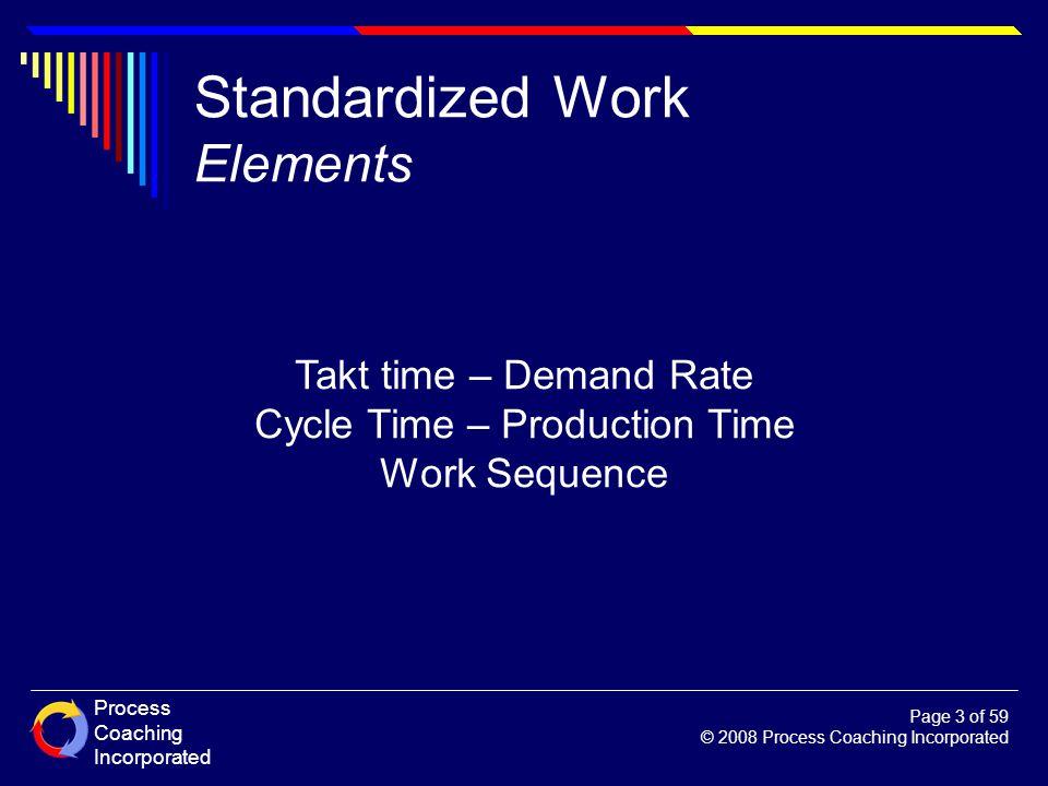 Standardized Work Elements