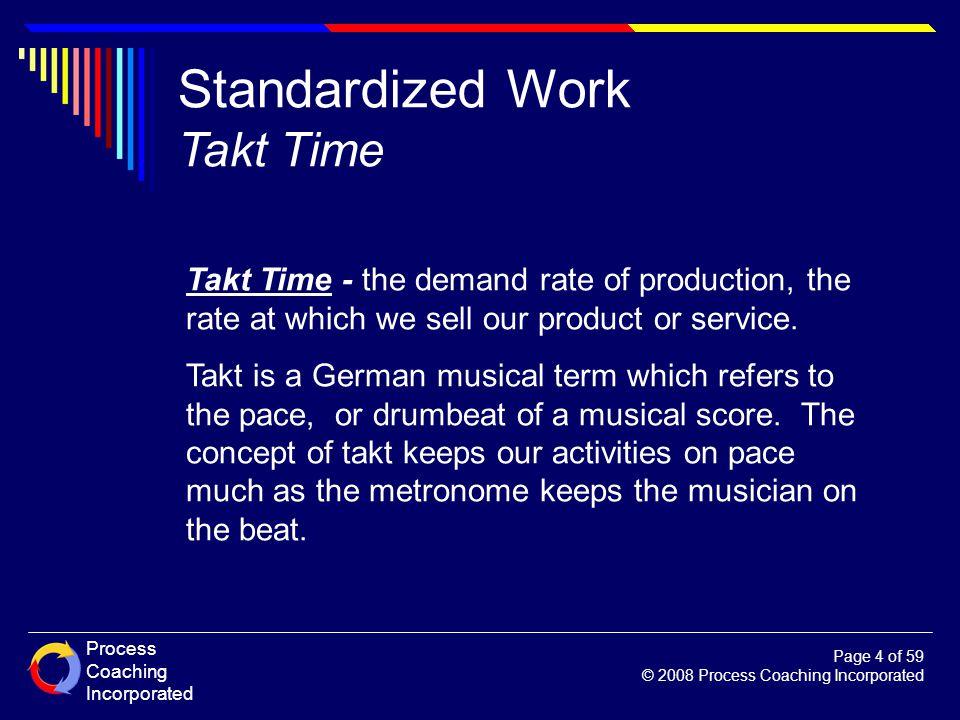 Standardized Work Takt Time