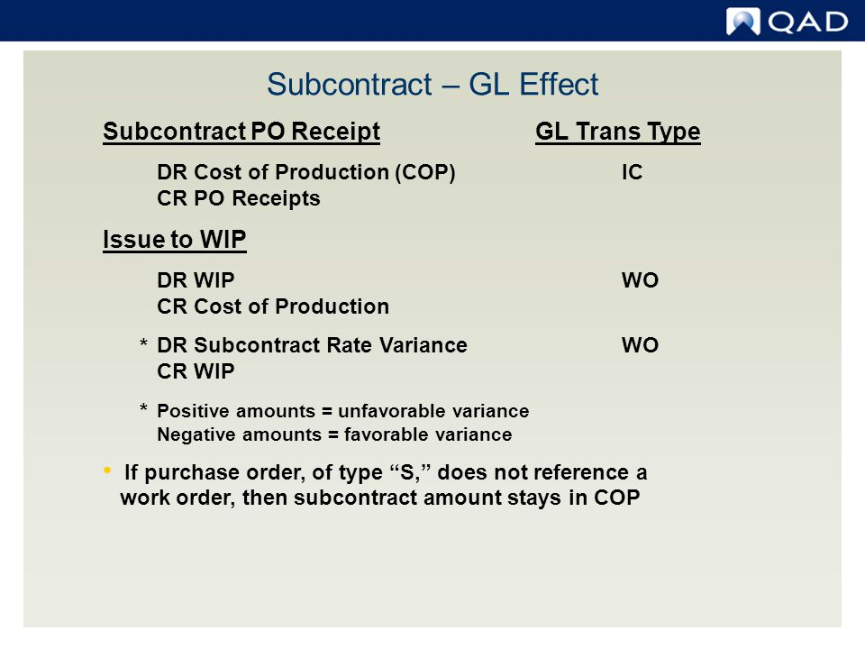 Subcontract – GL Effect