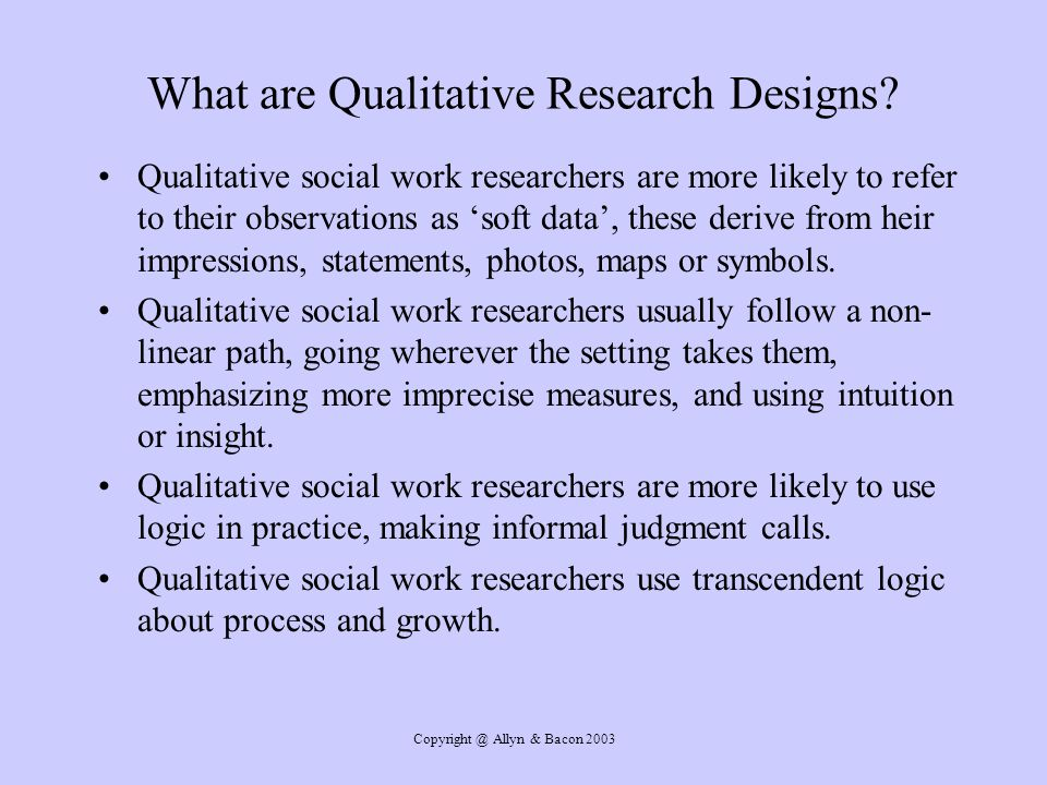 What are Qualitative Research Designs