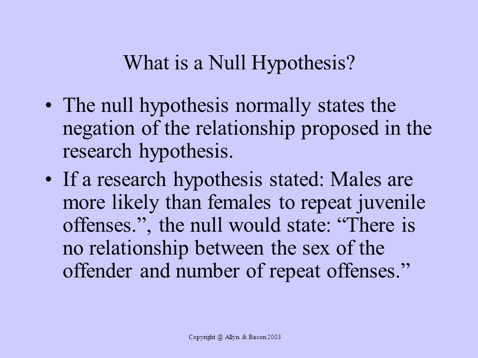 What is a Null Hypothesis