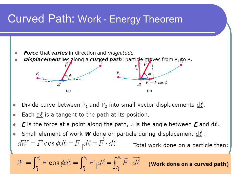 Curved Path: Work - Energy Theorem
