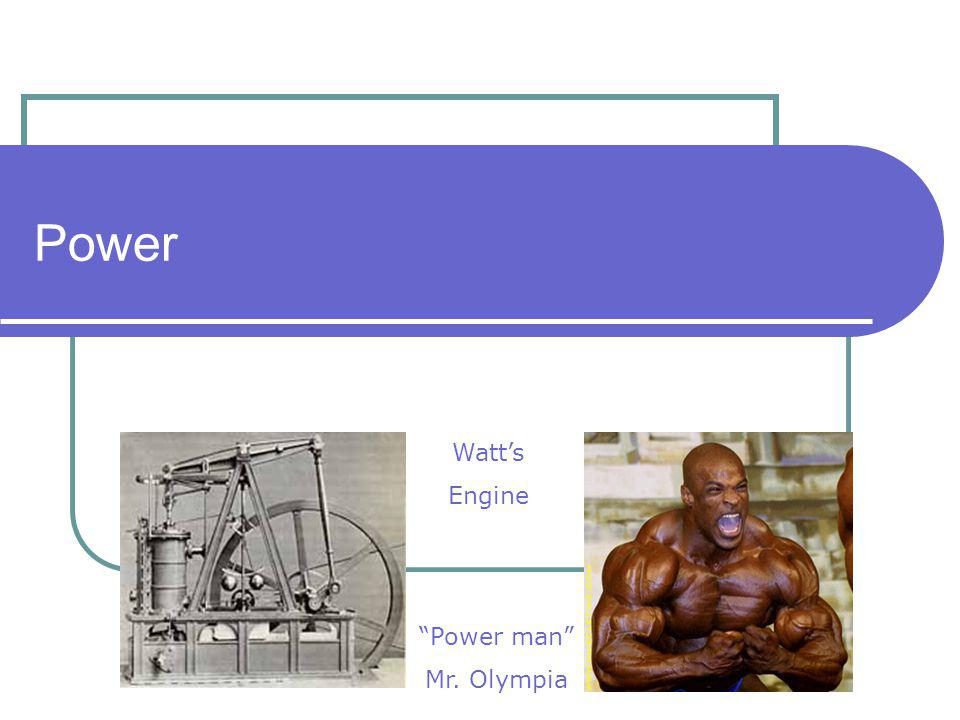 Power Watt's Engine Power man Mr. Olympia