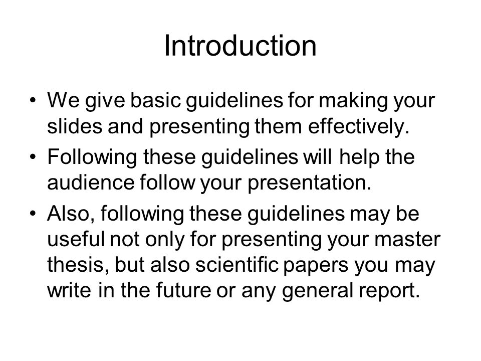 Scientific thesis writing and paper presentation pdf