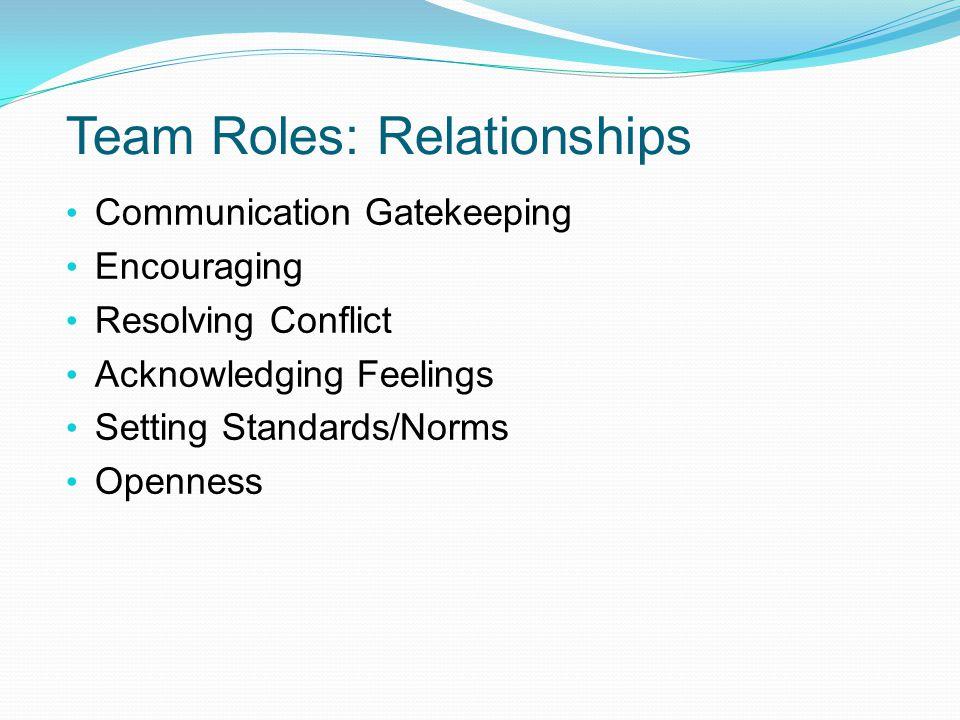Team Roles: Relationships