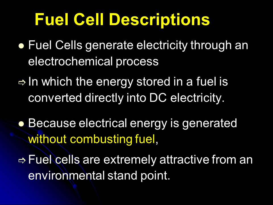 Fuel Cell Descriptions