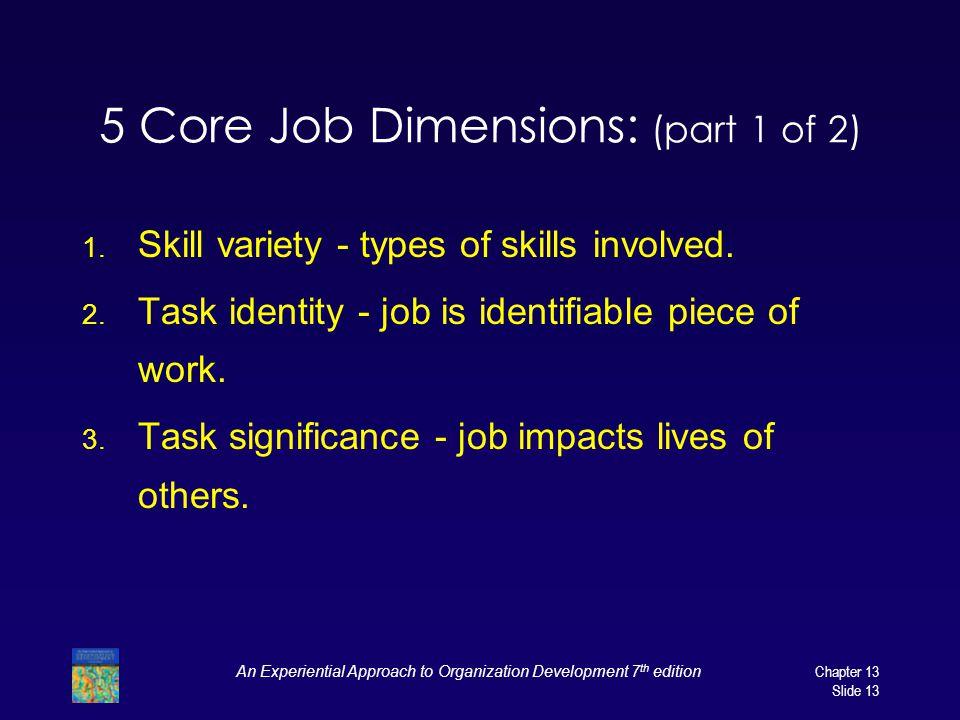 5 Core Job Dimensions: (part 1 of 2)