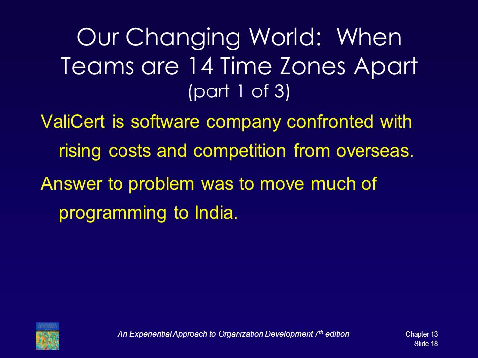 Our Changing World: When Teams are 14 Time Zones Apart (part 1 of 3)