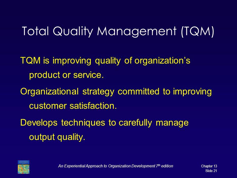 tqm in service organization
