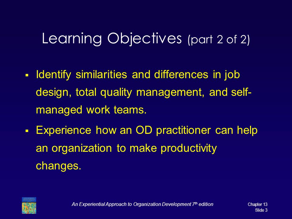 Learning Objectives (part 2 of 2)