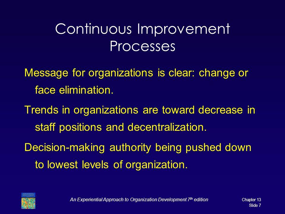 Continuous Improvement Processes